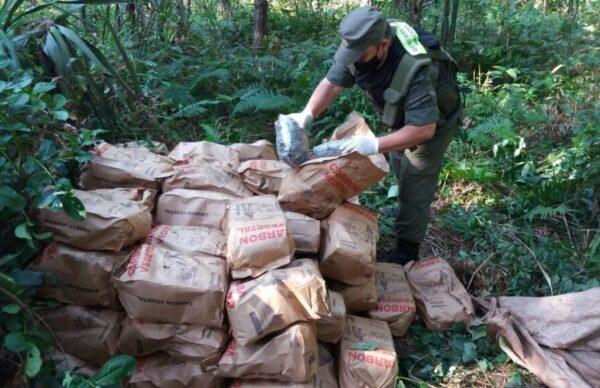 Misiones: secuestran más de 216 kilos de marihuana en el monte 2