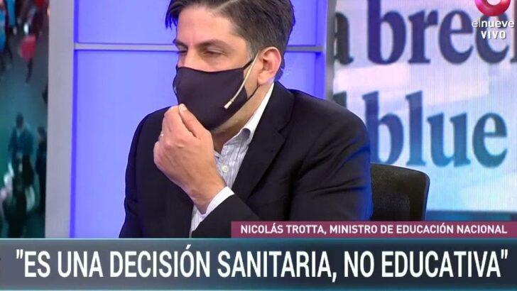 Nicolás Trotta: «Todos priorizamos la presencialidad, pero no es una cuestión de deseo sino de responsabilidad»
