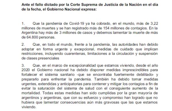 """Presencialidad: la Corte avaló la """"autonomía"""" de la Ciudad y Nación salió al cruce del fallo"""