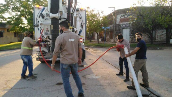 Sáenz Peña: Sameep realiza mantenimiento de cloacas