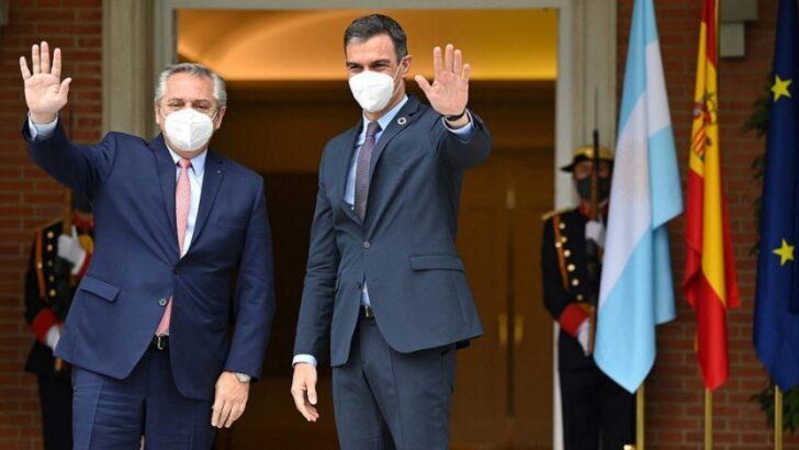 Alberto recibe al jefe del Gobierno español, Pedro Sánchez