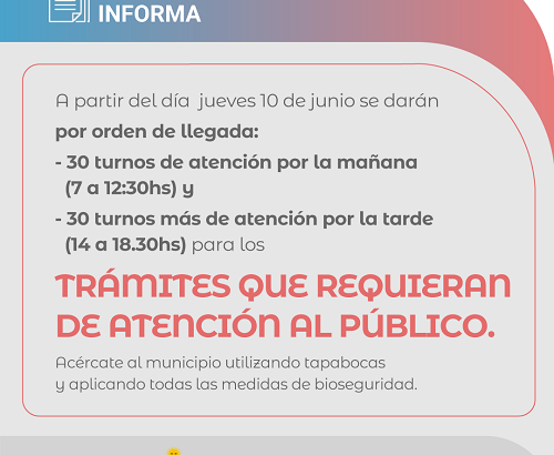 Barranqueras: el municipio comienza a atender al público