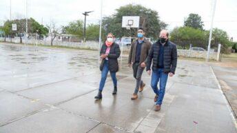 Barranqueras: Juan Manuel Chapo y Magda Ayala recorrieron obras de infraestructura social