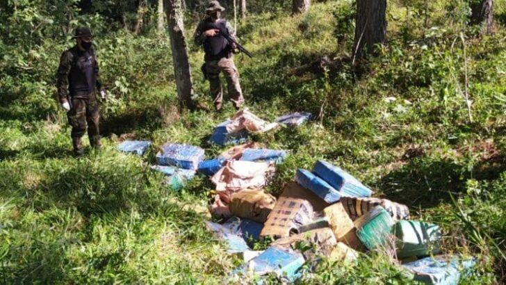 En Misiones, Prefectura secuestró más de 1.200 kilos de marihuana