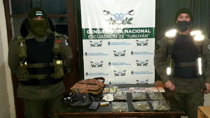Mendoza: Gendarmería detuvo a pasajero con marihuana en su mochila