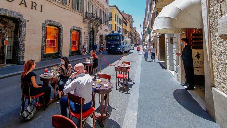 Pandemia: Italia reabre estadios, bares y restaurantes en todo el país