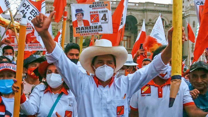 Perú: el escrutinio dio ganador al sindicalista de izquierda Pedro Castillo, quien será el nuevo presidente