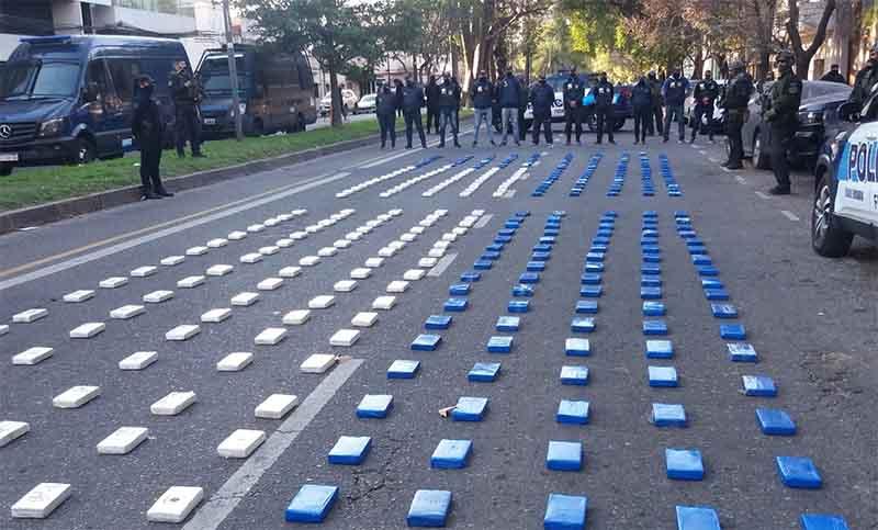 Policía Federal desabarató banda narco y secuestró 400 kilos de cocaína en Rosario