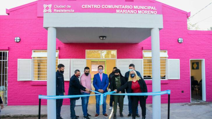 Resistencia: se inauguró la ampliación y refacción integral del Centro Comunitario Municipal del barrio Mariano Moreno