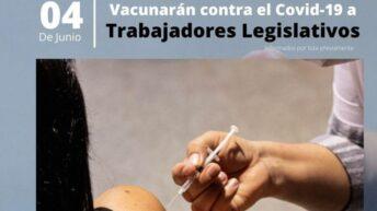 Vacunación contra Covid 19: personal del Poder Legislativo será inoculado este viernes