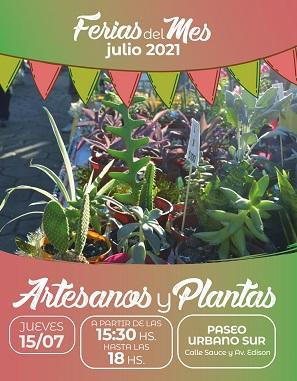 Barranqueras: vuelven las ferias de artesanos y plantas