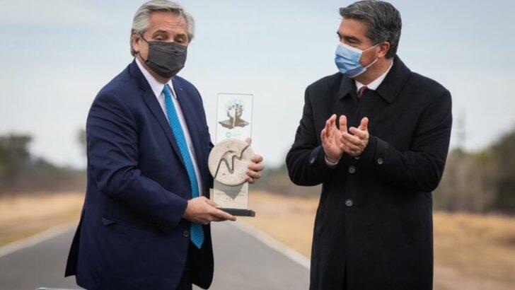 Capitanich y Alberto Fernández inauguraron 40 kilómetros de la Ruta provincial 7 que conecta Plaza y Colonias Unidas