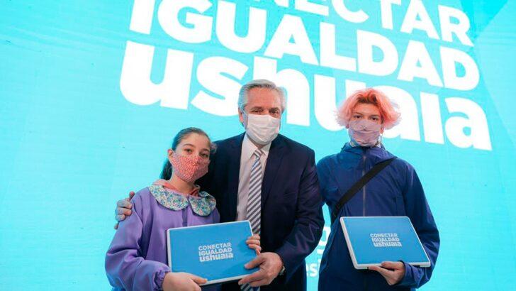 Conectar Igualdad: Alberto aseguró que «la libertad mejor entendida es la que se conjuga con solidaridad»