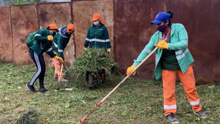 El Municipio de Resistencia realizó un nuevo operativo de limpieza integral en la zona este