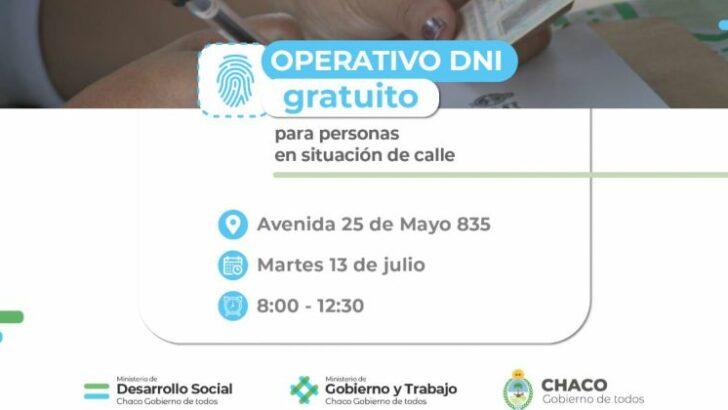Encaran un operativo para actualizar o gestionar DNI a personas en situación de calle