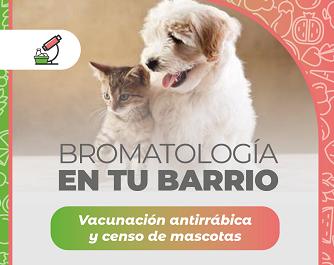 """Barranqueras: vacunación antirrábica y censo de mascotas en el operativo """"Bromatología en tu bario"""""""