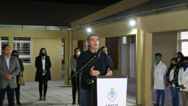 Capitanich inauguró obras de refacción, ampliación y nuevo mobiliario en Pampa del Indio