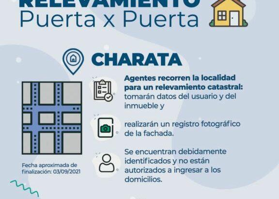 """Charata: ante la inminente llegada del agua, Sameep inició relevamiento """"Puerta x Puerta"""""""