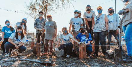 """En el Barrio Zampa, estudiantes de la EET N°2, el Ipduv y la ONG """"Techo"""" avanzan con 20 soluciones habitacionales"""