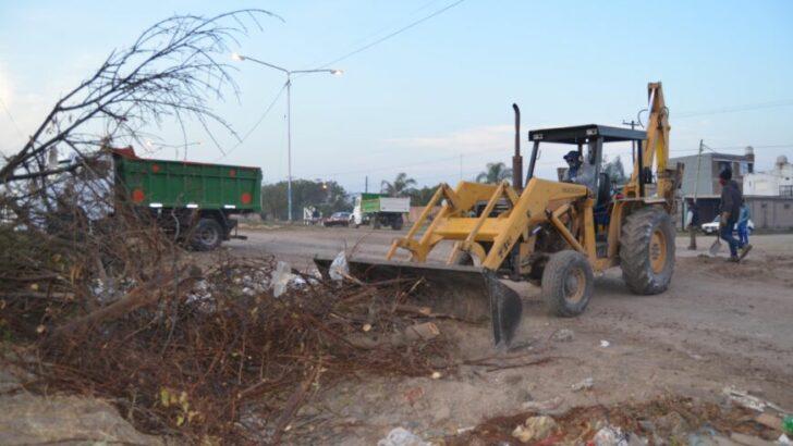 Resistencia: el Municipio continúa con los operativos de limpieza integral en la zona oeste