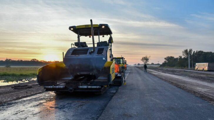 Avanzan las obras de pavimentación en rutas claves del interior