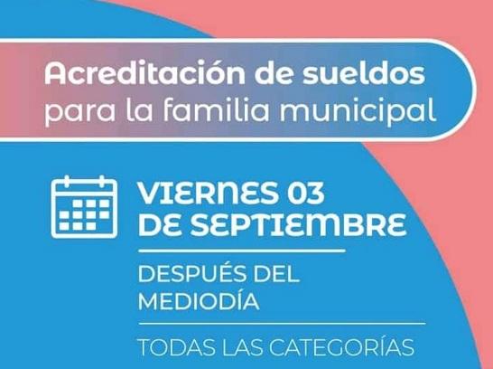 Barranqueras: el municipio informa que encuentra acreditado el sueldo de la familia municipal