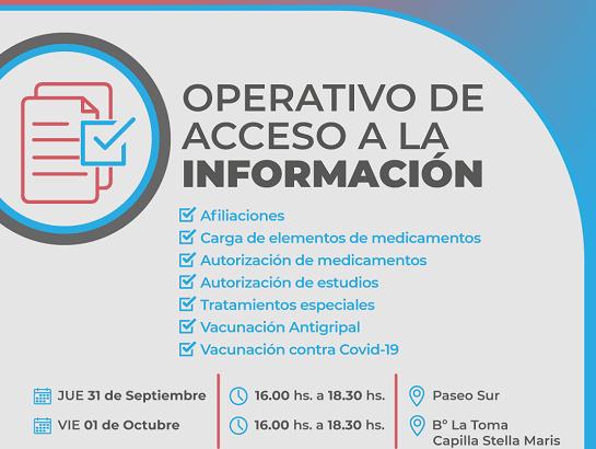 Barranqueras: nuevo operativo de acceso a la información