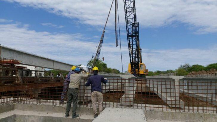 Canal 16: la APA avanza en la etapa final de construcción del puente sobre avenida Mac Lean