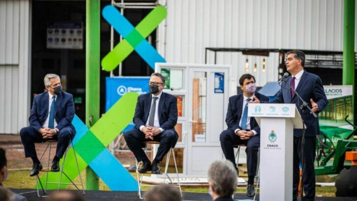 Capitanich recibió al presidente Alberto Fernández en el Día de la Industria