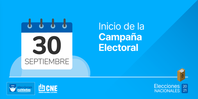 De cara a las elecciones del 14 de noviembre, comenzó oficialmente la campaña electoral