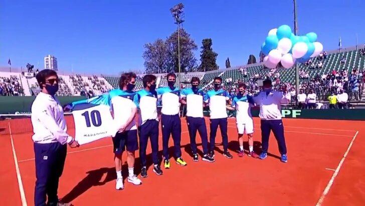 El tenis homenajeó a Maradona