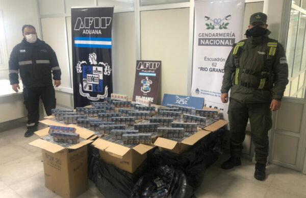 Gendarmería secuestró 9.500 atados de cigarrillos, valuado en 2.003.966,12 pesos 2