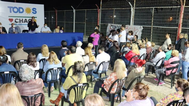 Gustavo Martínez acompañó a los postulantes del Frente de Todos en un diálogo con la militancia del suroeste de Resistencia