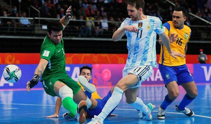 Mundial de futsal: Argentina le ganó a Brasil y es finalista
