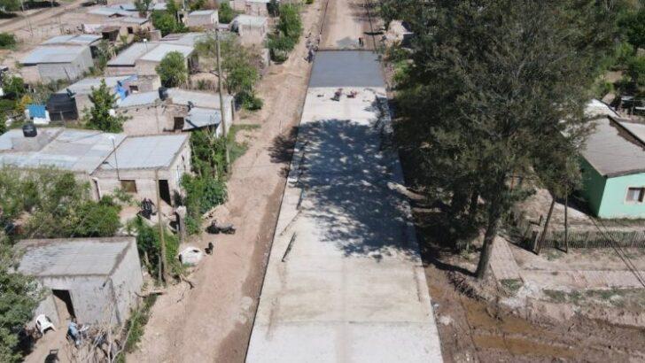 Pampa del Indio: avanzan las obras de pavimento urbano