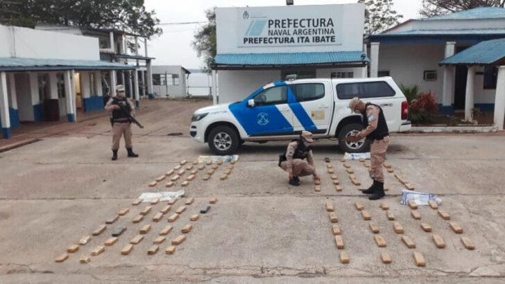 Prefectura secuestró más de 130 kilos de marihuana en dos operativos