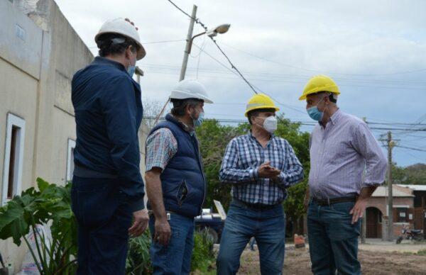 Sameep avanza con la ampliación del sistema cloacal en el barrio Roger Balet