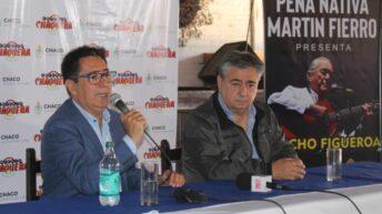 Anunciaron la presentación de Pancho Figueroa en la Peña Martín Fierro, y el intendente Gustavo Martínez dijo presente