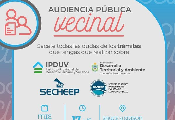 Audiencia Pública Vecinal en Barranqueras