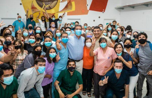 Capitanich habilitó obras de ampliación y refacción del Centro de Salud de Villa Libertad 2