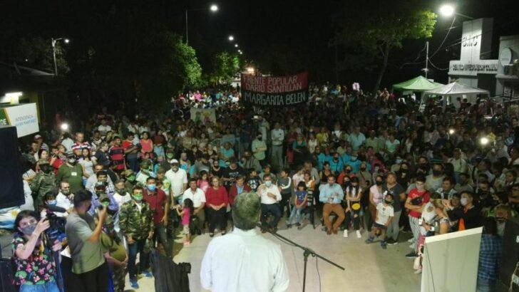 Capitanich inauguró nuevas cuadras de pavimento en Margarita Belén
