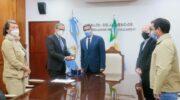 Capitanich recibió al embajador de Alemania