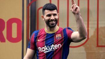 El «Kun» Agüero palpita su debut oficial en Barcelona