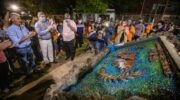 En la Isla del Cerrito, Capitanich inauguró un nuevo playón deportivo y recorrió diversas obras