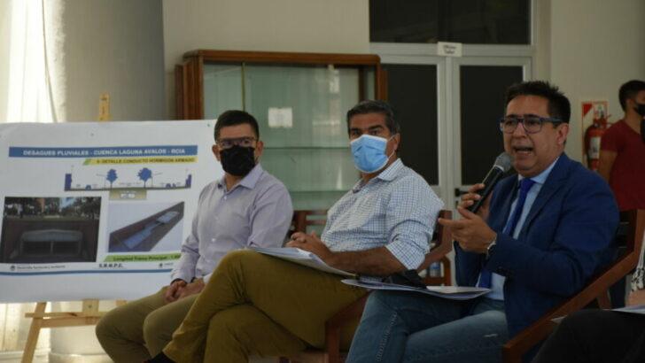 """Gustavo valoró el proyecto sobre los desagües pluviales de la cuenca Laguna Ávalos: """"implementamos una política pública para cambiarle la vida a los resistencianos"""""""