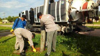 Sameep inicia un operativo de saneamiento integral y de mantenimiento del sistema cloacal de General San Martín