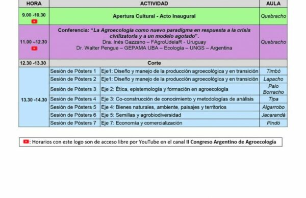 Se viene el segundo Congreso Argentino de Agroecología y Chaco será sede 1